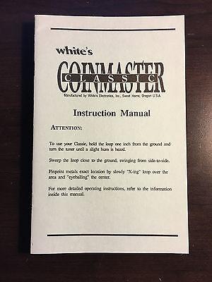 Operators Manual For Whites Coinmaster Classic Metal Detector