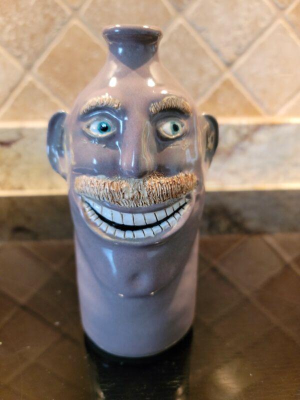 """Handmade Pottery Bottle Folk Art - Signed """"KAR Pottery"""". New"""