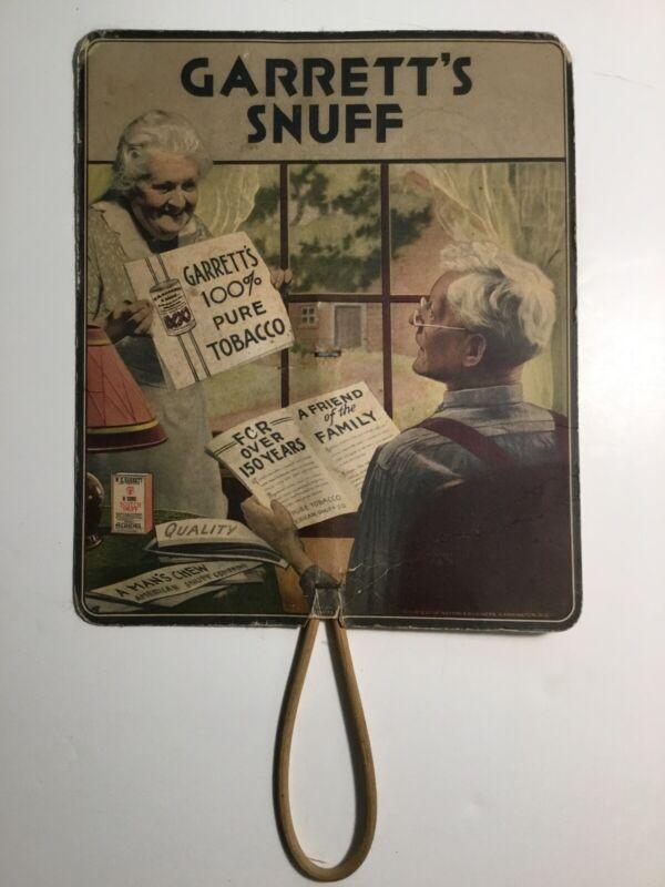 Garrett's Snuff Fan Calendar 1935-36 Vintage Tobaccoana