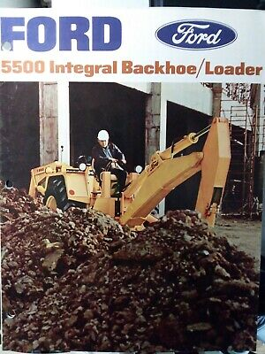 Ford 5500 Tlb Tractor Loader Backhoe Color Sales Brochure Catalog Manual