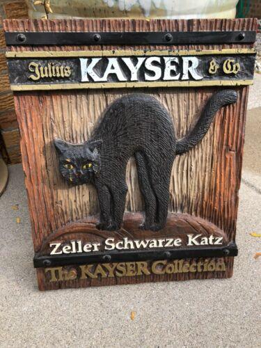 JULIUS KAYSER & CO. ADVERTISING  ZELLER SCHWARZE KATZ SIGN