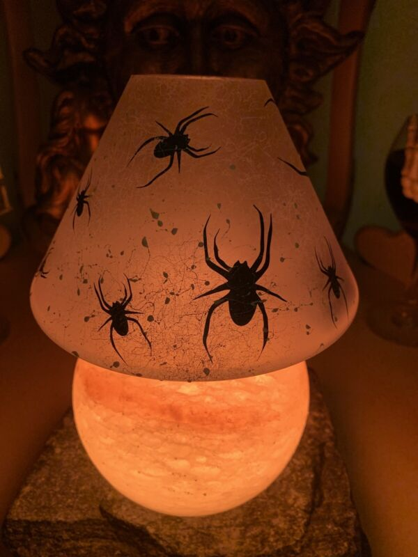 Yankee Candle Outlet EXCLUSIVE RARE HALLOWEEN Spider Crackle Jar Shade New