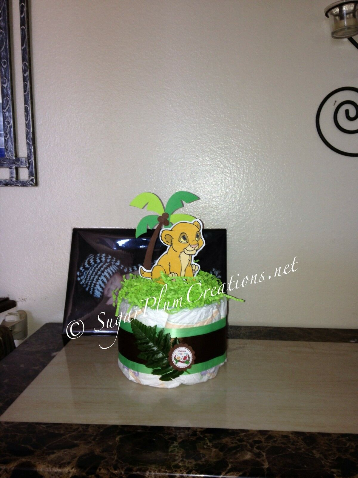 lion king baby simba diaper cake baby shower