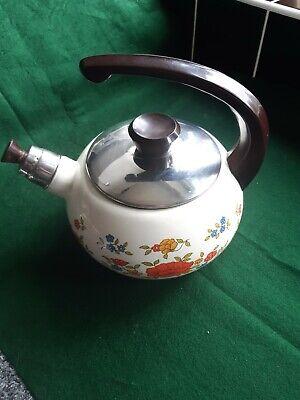 Vintage Enamel Whistling Kettle