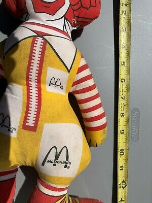 Vintage RONALD MCDONALD DOLL 14 INCH collectible 70's