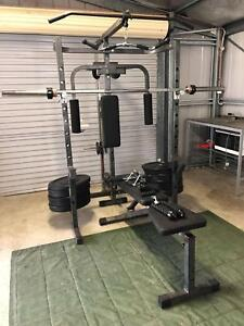 Power rack / home gym 160kg Olympic size bumper weights included