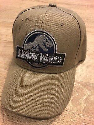 Jurassic World Hat Embroidered Patch Cap Movie Park World Tan Park Dinosaur - Dinosaur Hat