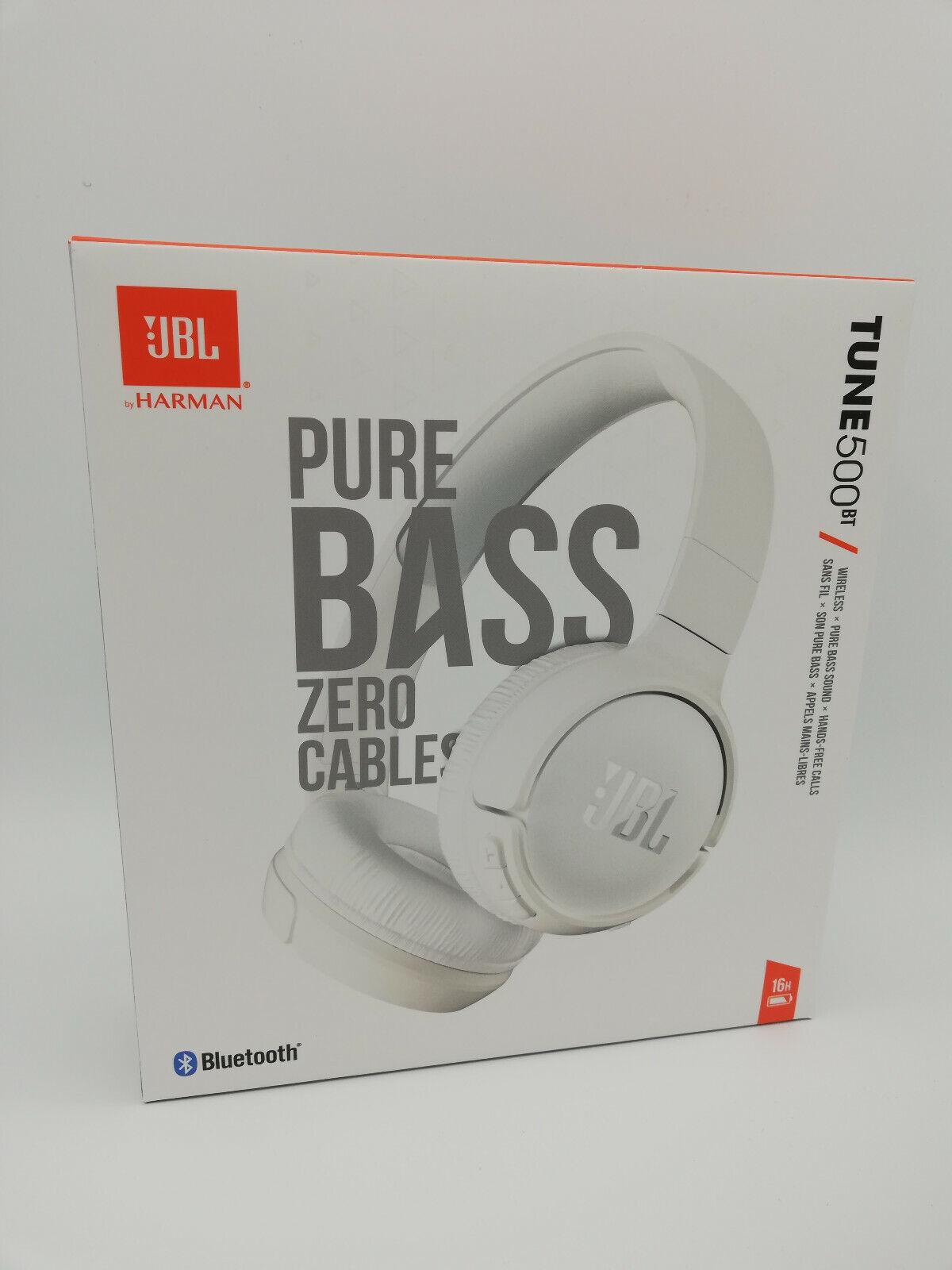 JBL T500 BT On-Ear-Kopfhörer Bluetooth Kabellos Faltbar Pure Bass *Neu*✅