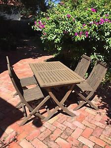 Five Piece Outdoor Dining Setting (teak) Glen Iris Boroondara Area Preview