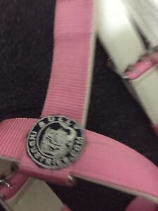 Bully industries dog harness black and white pink and white Ambarvale Campbelltown Area Preview