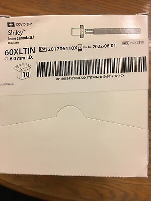 Covidien Shiley 6.0 Xlt Disposable Inner Cannulas Box Of 10