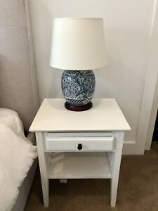 White Wooden Bedroom Side Tables X 2