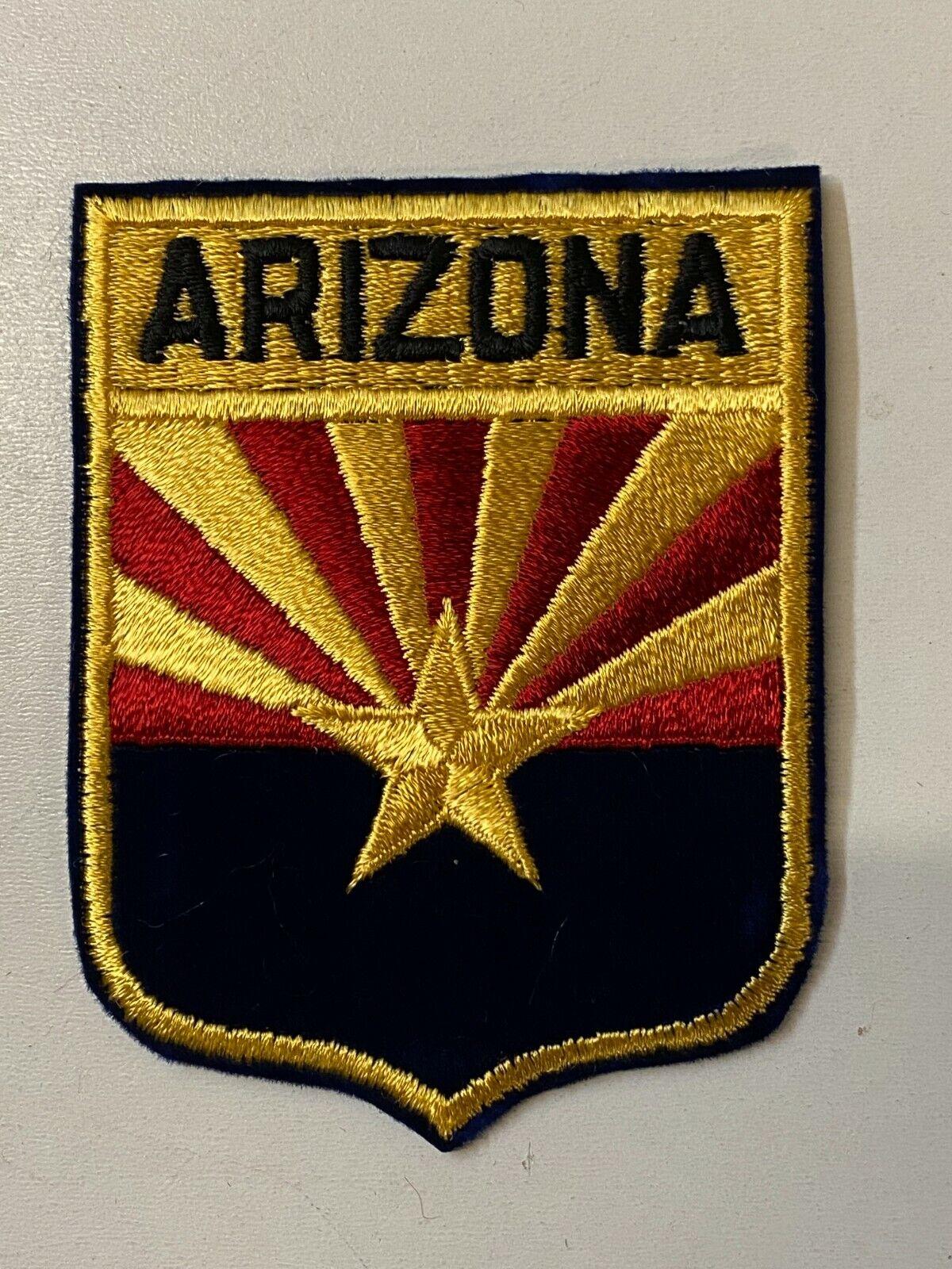 Arizona Aufnäher, USA US Bundesstaaten Aufbügler, Patch, Sticker, ca 9,5x7,5 cm