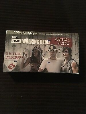 2018 TOPPS THE WALKING DEAD:  HUNTERS AND THE HUNTED HOBBY BOX !!!HOT-2 HITS !!