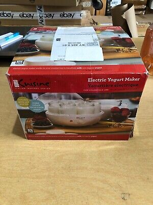Euro Cuisine YM80 Electric Yogurt Maker, White, Open Box, I1