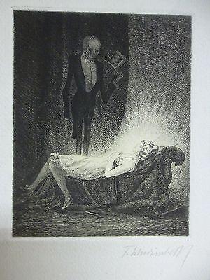 Fritz Schwimbeck - Interessante Original Radierung, signiert um 1920 entstanden.