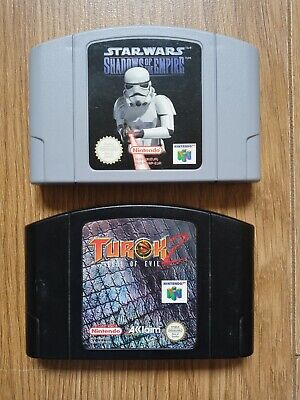 NINTENDO N64 Star Wars Shadows of the Empire and Turok 2, pal, cheapest on e-bay