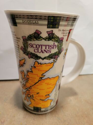 SCOTTISH CLANS Dunoon clan wallace coffee mug made in Great Britain