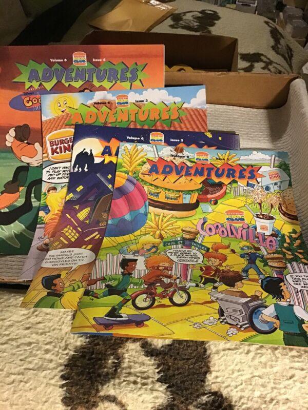 1994 Burger King Kids Club Adventures Magazine No. 6 - 8 series (#1-8)- All Mint