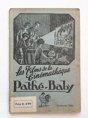 VINTAGE PATHÉ-BABY 1926 CATALOGUE 84 PAGES COMPLET 18.4X12.6CM FELIX THE KAT