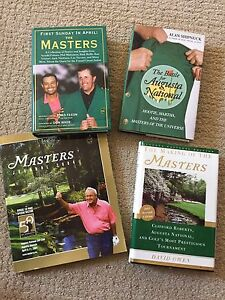 Masters Golf Book Collection 4 Books Total