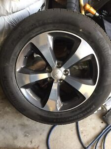 """2015 Jeep Grand Cherokee 18""""rims and continental tires"""