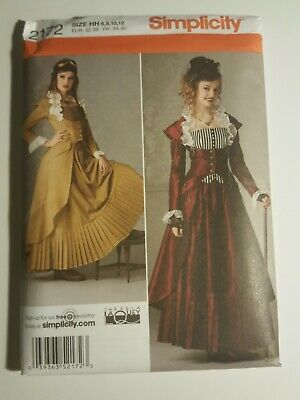 Simplicity Pattern 2172 HH Misses Costumes/Cosplay Steampunk Sz 6-12 New Uncut