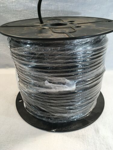 Coaxial Cable. 500 Feet. Black.