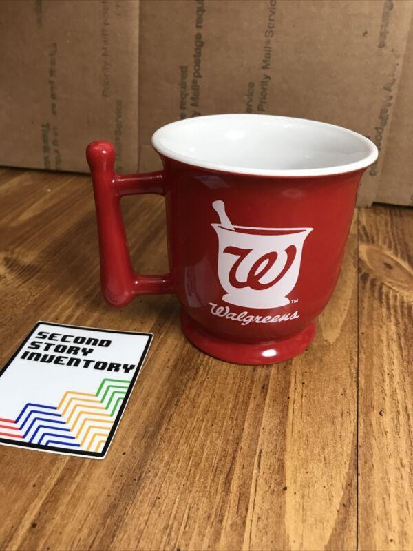 Walgreens Drugstore Red Ceramic Mortar Pestle Handle Coffee Mug