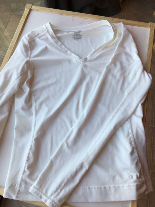 Large White Long Sleeve Athletic Works Womens