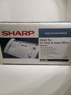 Sharp Inkjet Fax Small And Home Office Machine Ux-b20