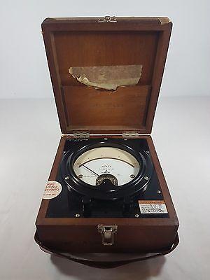 Vintage British Military Voltmeter in Wooden Box Ernest Turner?