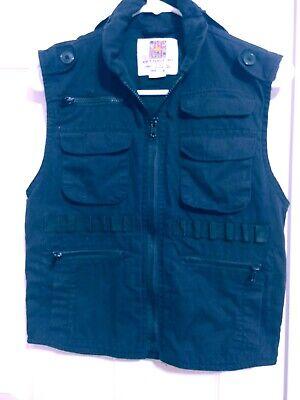 Rothco Black Ranger Army Vest JR. G.I. Boys Size Medium Pockets  Kids Black Ranger Vest