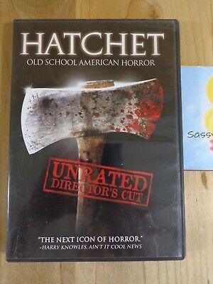 HATCHET 2007 DVD Movie Unrated Director's Cut Tamara Feldman Joel David Moore