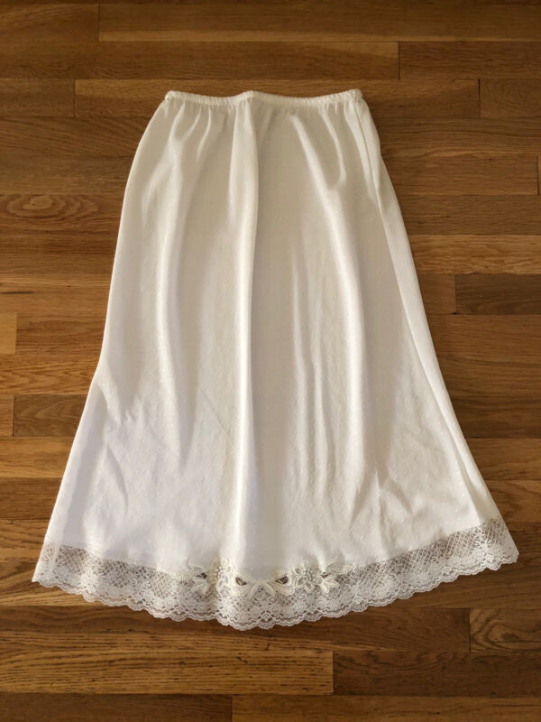 Vintage Christian Dior Ivory Lace Half Slip  USA. Pre-owned