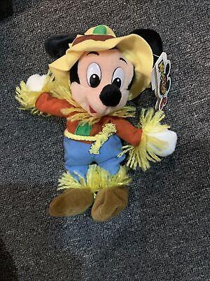 Disney Mouseketoys Scarecrow Mickey Mouse Bean Bag Plush NWT Vintage