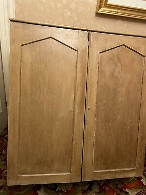 Large Vintage Pine Cupboard Kitchen Larder Housekeepers Linen Press Cabinet