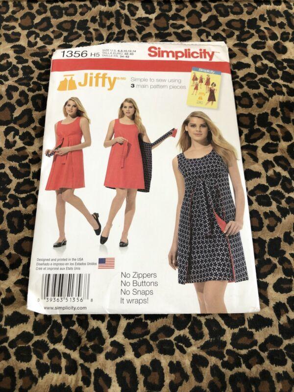 New Uncut Sewing Pattern SIMPLICITY 1356 SIZE: H5 REVERSIBLE WRAP DRESS (sp42