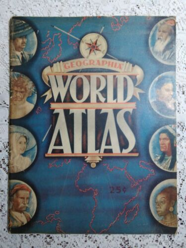 Pre WWII 1939 ATLAS of the WORLD Alexander Gross GEOGRAPHIA MAP CO