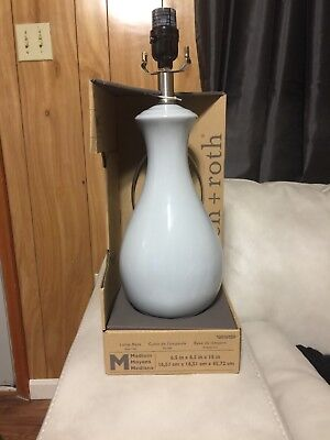allen + roth 18-in Blue Electrical Outlet Ceramic Lamp Base