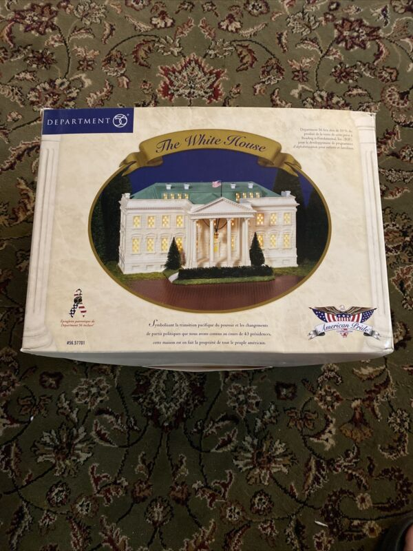 Dept 56 American Pride Collection #57701 THE WHITE HOUSE w/Box Complete NEW