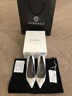 Versace Collection White Pump In Size 36