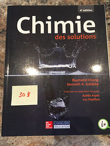 Chimie des solutions - Chang 4e édition - NEUF