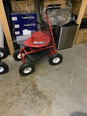 Ex Display Outsunny Gardening Planting Rolling Cart W/Tool Tray-Red