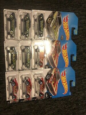 HOT WHEELS '67 Camaro Fifty Years Red Zamac Exclusive Lot of 9 Same Day FS