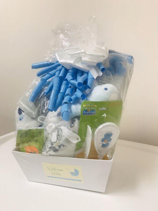 Baby Boy Shower Gift Basket Set