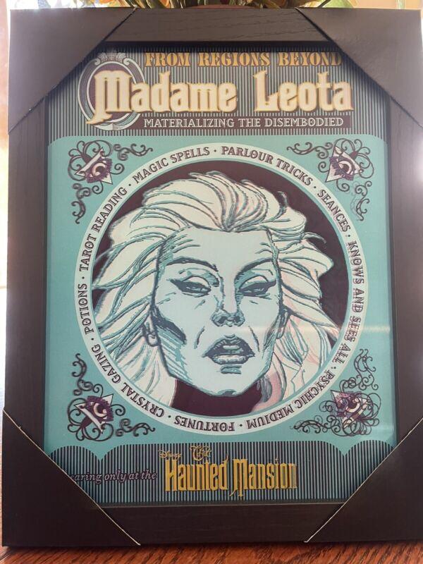 Disney Haunted Mansion Madame Leota Lenticular Sign!