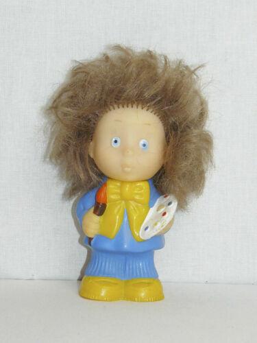 Vintage Original Soviet Russian Rubber Toy Doll Small Artist USSR