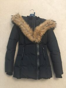 Mackage Adali Fitted Winter Down Coat with Fur Hood XXS