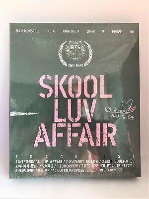 BTS 2nd Mini Album Skool Luv Affair 2014 CD Photocard Booklet Sealed K-pop